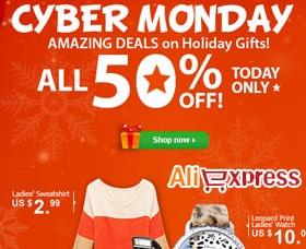 mejores tiendas cyber monday aliexpress lunes cibernético
