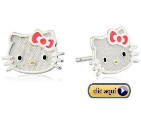 Regalos creativos para ninas joyas aretes hello kitty