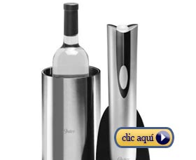 Regalos de navidad de ultimo minuto Botella de vino con accesorios