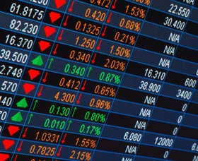 precios de las acciones en la bolsa de valores