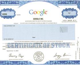 que son las acciones de compania google accion fisica