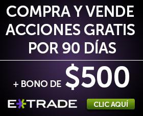 Mejor bróker barato: E * Trade