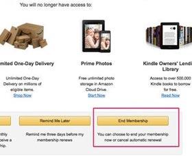 Amazon prime membership reembolso