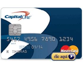 Tarjetas de crédito para personas con mal crédito: Capital One MasterCard asegurada