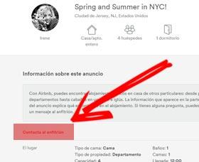 contactar al anfitirion airbnb es seguro airbnb fraude estafa