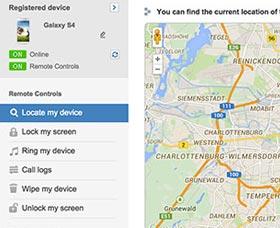 encontrar un celular android perdido samsung