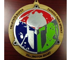 la medalla spartan race trifecta
