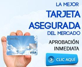tarjeta de crédito asegurada o garantizada