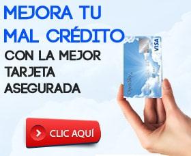 tarjeta de credito con mal credito tarjeta asegurada
