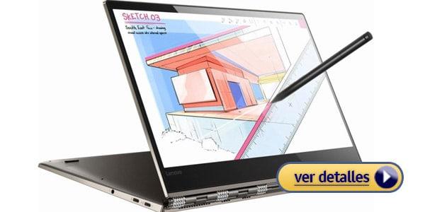 Lenovo Yoga 920 laptop 2 en 1 con mayor duracion de bateria
