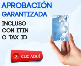 tarjeta de crédito asegurada itin tax id sin tener social