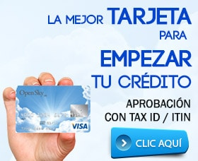tarjeta de crédito con tax id itin