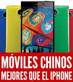 moviles chinos que se comparan con el iPhone