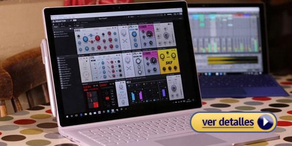 suface book 2 laptop Windows para produccion de misica