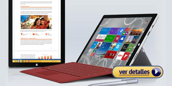 Mejores portatiles para ingenieros Microsoft Surface Pro 3