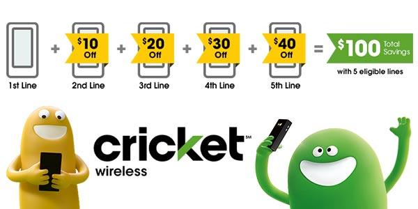 La compañía con el mejor plan familiar: Cricket Wireless