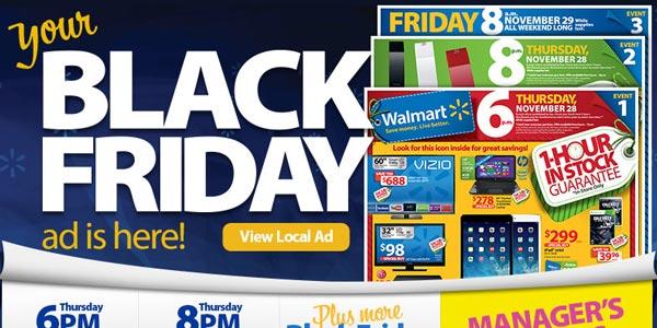 Mejores tiendas con ofertas de Black Friday: Walmart
