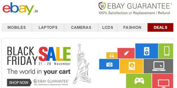 Mejores tiendas viernes negro: eBay