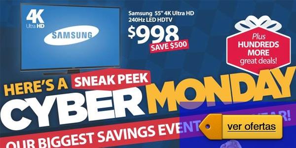 Ofertas Cyber Monday 2015 Televisores