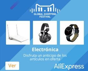 Ofertas del 11 de noviembre Electronicos aliexpress global shopping festival