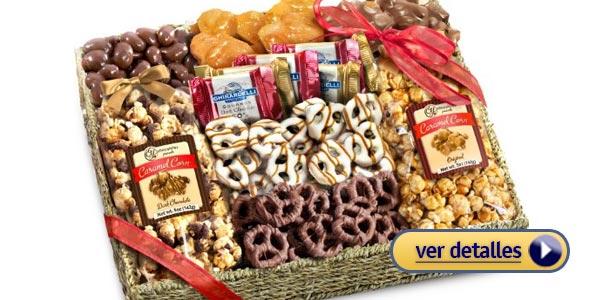 mejores regalos de navidad para tu abuelo canasta de comida gourmet