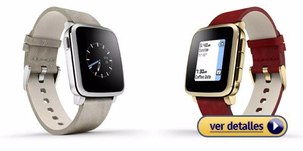 Regalos de navidad para hombres: Reloj inteligente (Smartwatch) Pebble