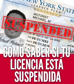 Cómo saber ti su licencia está suspendida