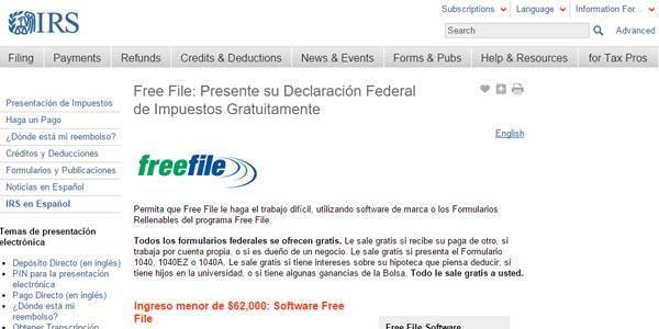 Formas baratas de hacer los taxes: FreeFile