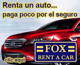 Daños cubiertos por la agencia Fox Rent a Car