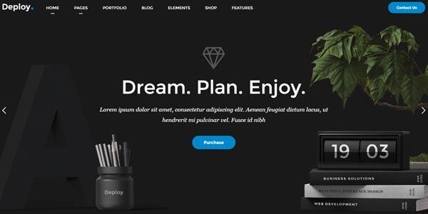 Mejores plantillas WordPress para empresas: Deploy
