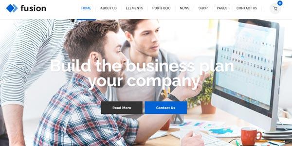 Mejores temas responsive WordPress para oficinas: Fusion