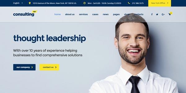 Plantillas WordPress para negocios: Consulting