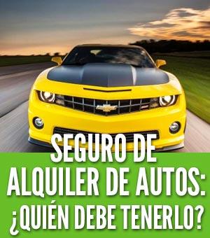 Seguro de alquiler de autos