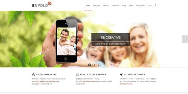 Temas WordPress para compañías: Enfold