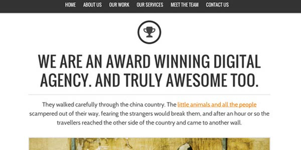 Temas WordPress para compañías: Nash