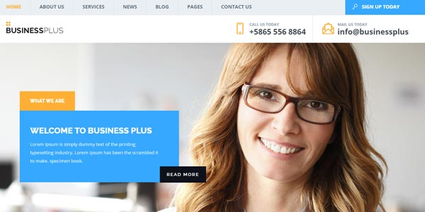 Temas WordPress para negocios: Business Plus