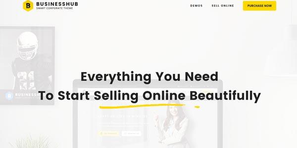Temas WordPress para negocios: BusinessHub