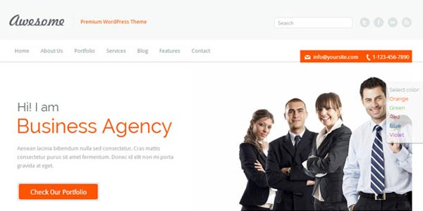 Temas WordPress premium para negocios: Awesome