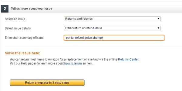 pedir un rembolso en Amazon por una compra ya realizada