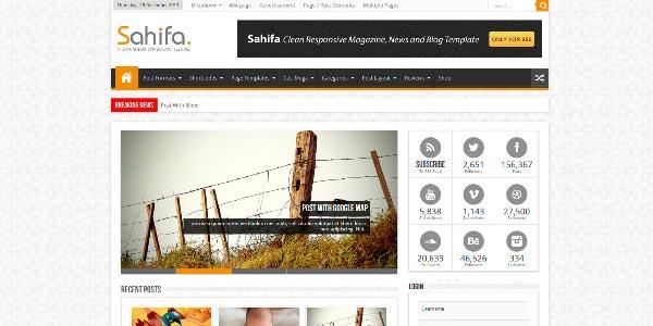 Mejor tema WordPress responsive: Sahifa