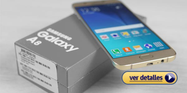 Mejores celulares con lector de huella: Samsung Galaxy A8