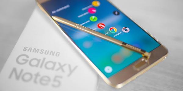 Mejores celulares con lector de huella: Samsung Galaxy Note 5
