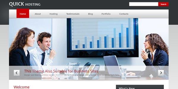 Mejores temas WordPress alojamiento web: Quick Host