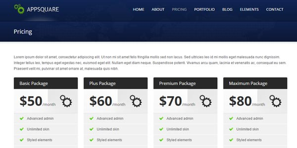 Mejores temas WordPress para hosting: AppSquare