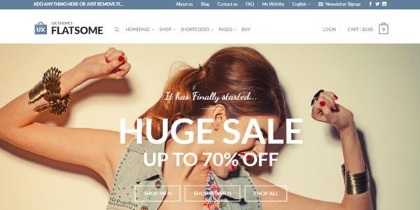 Mejores temas WordPress para una tienda virtual: FlatSome
