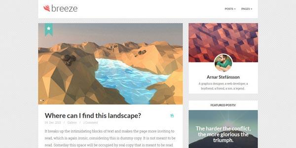 Mejores temas WordPress responsive: Breeze