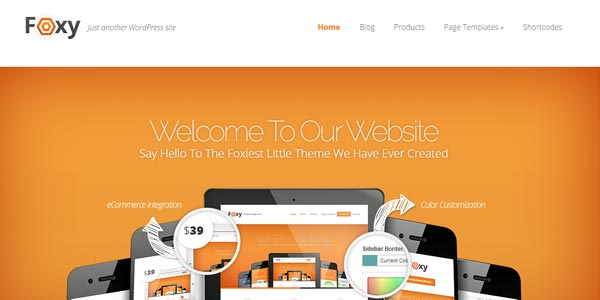 Mejores temas WordPress responsive: Foxy
