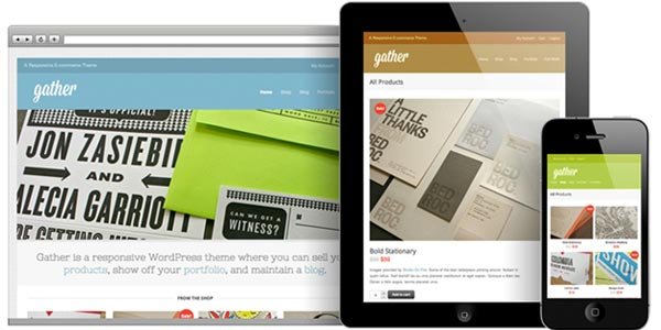 Mejores temas WordPress responsive: Gather