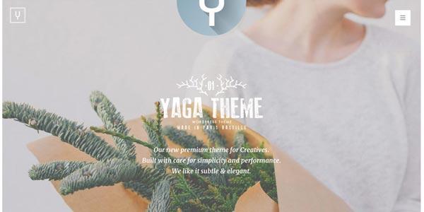 Mejores temas WordPress responsive: Yaga