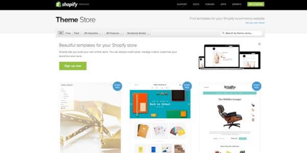 Navega por la tienda de Temas shopify tienda virtual